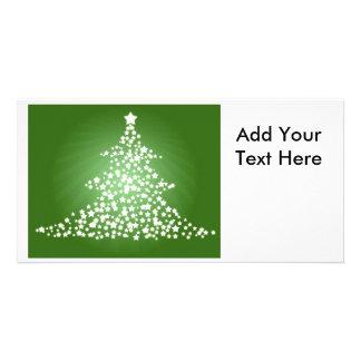 Glowing Christmas Tree Photo Greeting Card