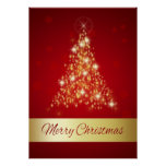 Glowing Christmas Tree - Poster