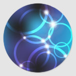 Glowing Circles Round Sticker