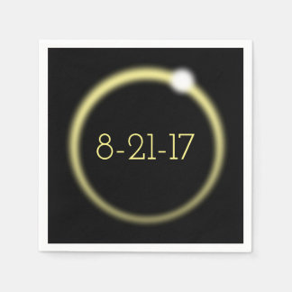 Glowing Corona Total Solar Eclipse 2017 Paper Napkins