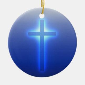 Glowing Cross Christmas Ornament