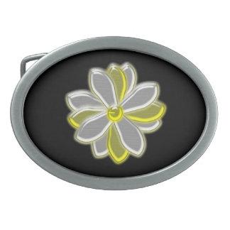 Glowing Daisy Flower Belt Buckle