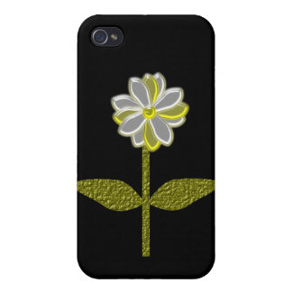 Glowing Daisy Flower  Case For iPhone 4