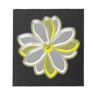 Glowing Daisy Flower Notepad