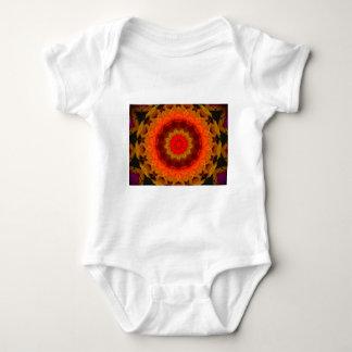 Glowing digital Mandala Baby Bodysuit