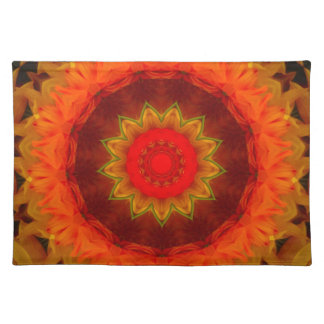 Glowing digital Mandala Placemat