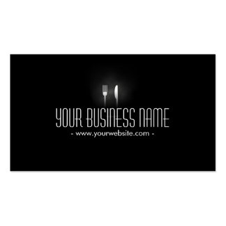 Glowing Dining Tools Dining Catering Business Card
