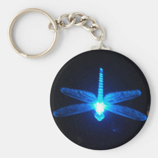Glowing Dragonfly Basic Round Button Key Ring