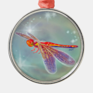"""""""Glowing Dragonfly"""" Ornament"""
