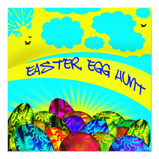 Glowing Easter Eggs Easter Egg Hunt Invitation