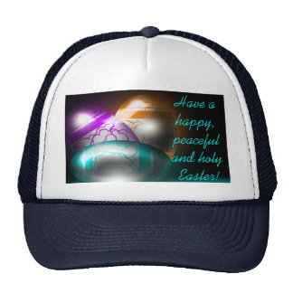 Glowing Easter Eggs White/Navy Hat