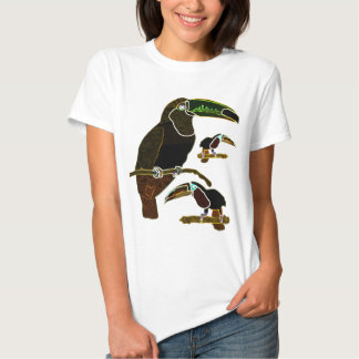 Glowing Edges Toucan T Shirts