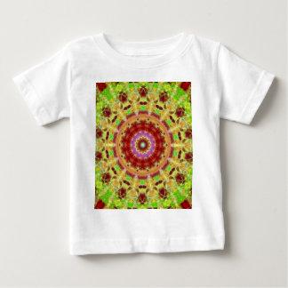 Glowing Electric Kaleidoscope Mandala Baby T-Shirt
