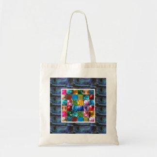 GLOWING Elegant Blue Crystal Decorations Budget Tote Bag