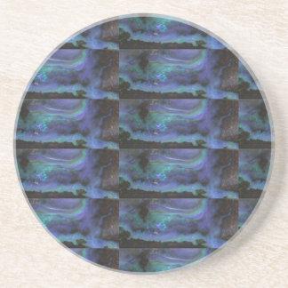 GLOWING Elegant Blue Crystal Decorations Drink Coasters