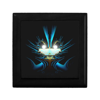 Glowing Eyes Alien Dragon Blue Small Square Gift Box