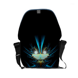 Glowing Eyes Blue Alien Commuter Bag
