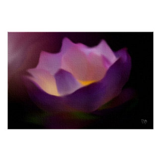 GLOWING Floral Card Poster