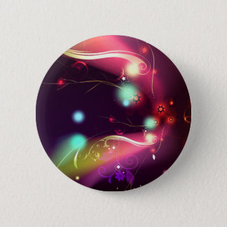 Glowing Flourishes 6 Cm Round Badge