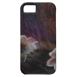 Glowing Flowers in Abstract Space Case For The iPhone 5