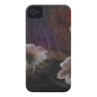 Glowing Flowers in Abstract Space iPhone 4 Cover