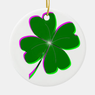 Glowing Four Leaf Clover Christmas Ornament