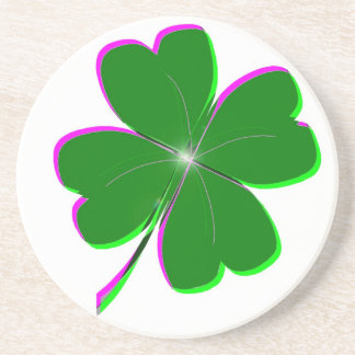 Glowing Four Leaf Clover Coasters