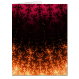 Glowing Fractal Dusk - gold black and fuschia Greeting Cards