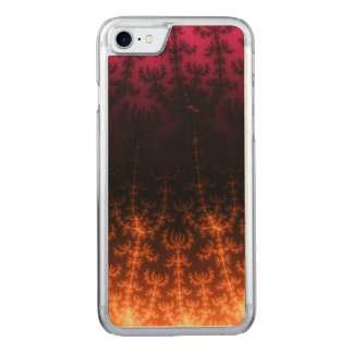Glowing Fractal Dusk - gold, black and fuschia Carved iPhone 7 Case