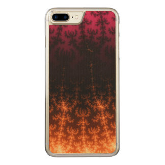 Glowing Fractal Dusk - gold, black and fuschia Carved iPhone 7 Plus Case
