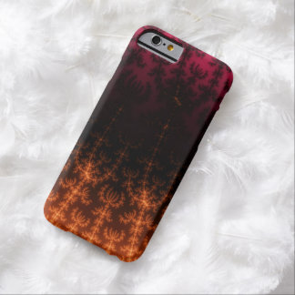 Glowing Fractal Dusk - gold, black and fuschia iPhone 6 Case