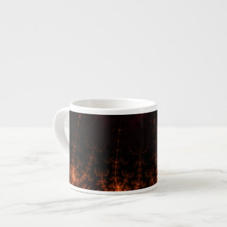 Glowing Fractal Dusk - gold, black and fuschia Espresso Mug
