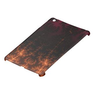 Glowing Fractal Dusk - gold black and fuschia Case For The iPad Mini