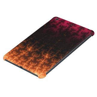 Glowing Fractal Dusk - gold, black and fuschia iPad Mini Retina Cases