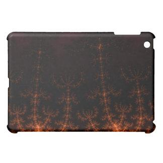 Glowing Fractal Dusk - gold black and fuschia iPad Mini Cases