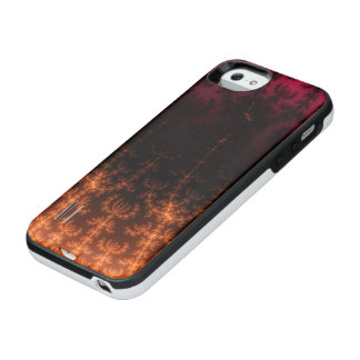Glowing Fractal Dusk - gold, black and fuschia iPhone 6 Plus Case