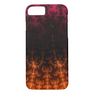 Glowing Fractal Dusk - gold, black and fuschia iPhone 7 Case
