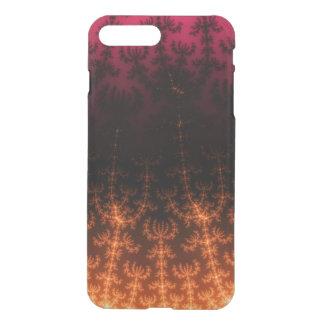 Glowing Fractal Dusk - gold, black and fuschia iPhone 7 Plus Case