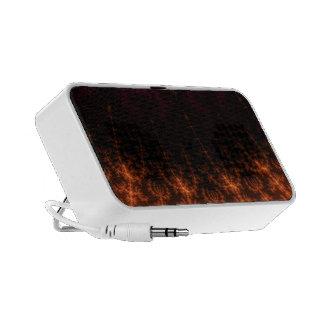 Glowing Fractal Dusk - gold, black and fuschia Mp3 Speaker