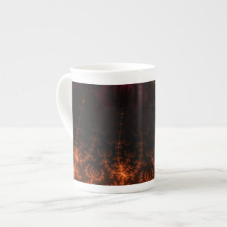 Glowing Fractal Dusk - gold, black and fuschia Porcelain Mug