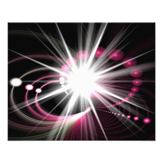 Glowing Fractal Lens Burst - The Coolest Art Photo