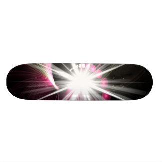 Glowing Fractal Lens Burst - The Coolest Skateboard Deck