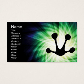 Glowing Frog Foot Print Business Card