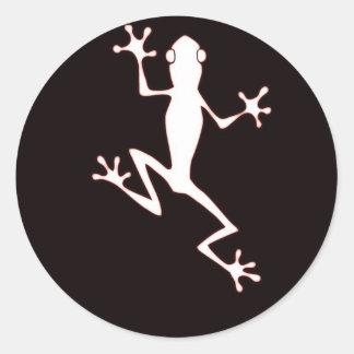 Glowing frog round sticker