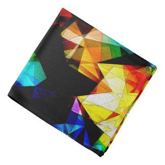 Glowing Geometric Abstract Bandana