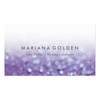 Glowing Glittering Bokeh | Glitter Business Card