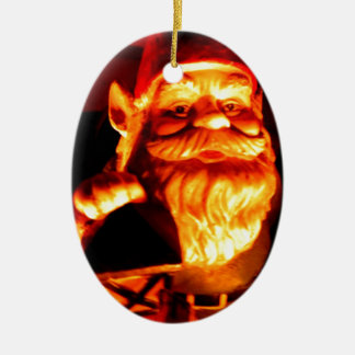 Glowing Gnome Ceramic Oval Decoration