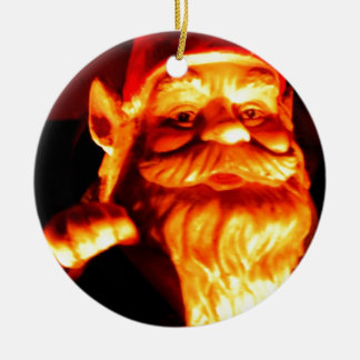 Glowing Gnome Round Ceramic Decoration