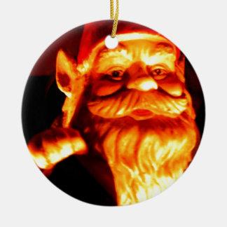 Glowing Gnome Round Ceramic Decoration