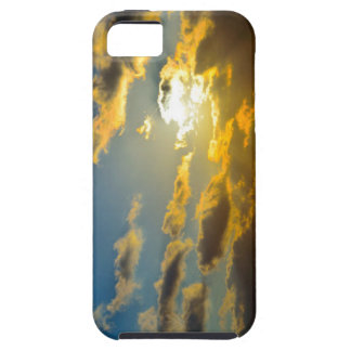 Glowing Golden clouds iPhone 5 case
